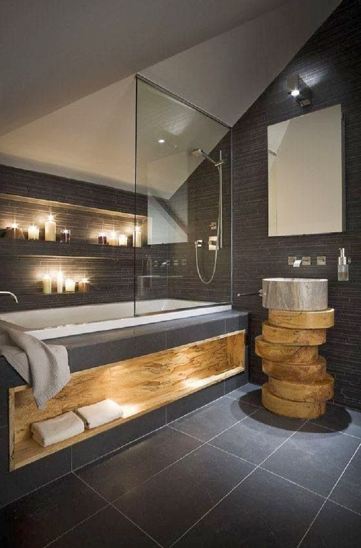 Salle De Bain Moderne 2015 Salle De Bain Moderne Ardoise Bois Top Inspirations