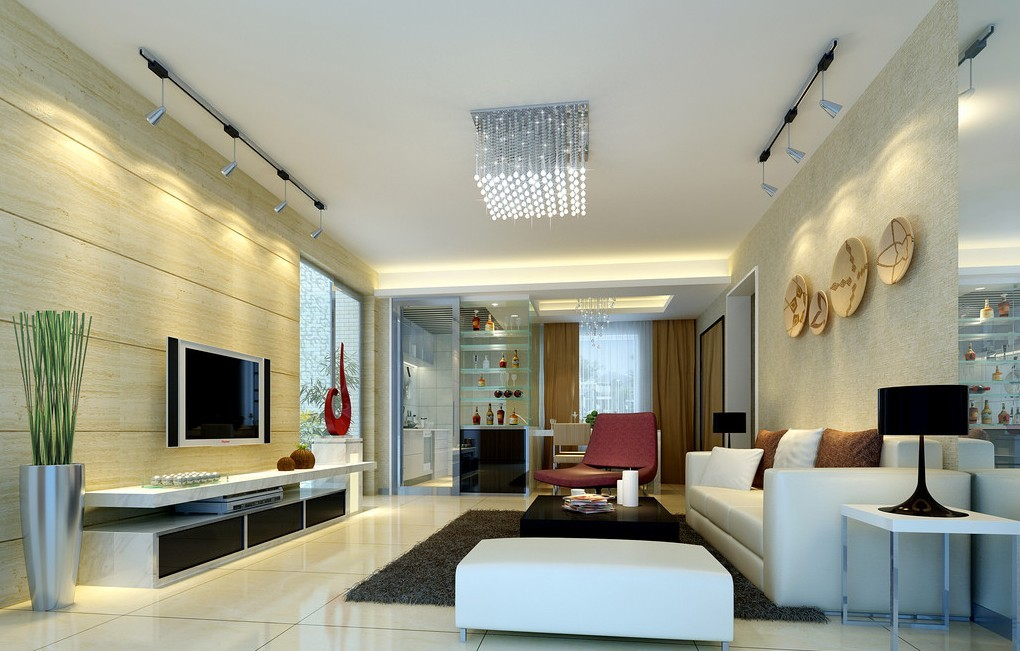 Pearl Chandelier Projection Wall Lamp Living Room Interior