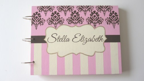 Custom personalized unique baby shower guest book alternatives