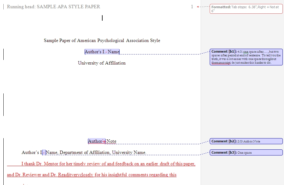 Teaching of Psych Idea Exchange (ToPIX) / APA Template with Comments2