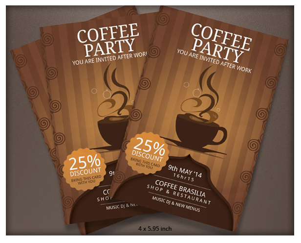 Coffee Brochure Template A4 by BloganKids GraphicRiver