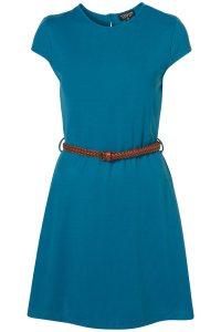 Topshop teal blue belted tea dress | Toppingyou Blog