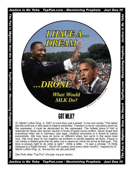 Free Martin Luther King Poster - MLK Have Dream, Obama Drone