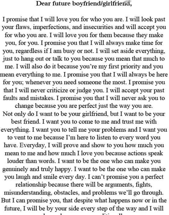 Best 25+ Future boyfriend quotes ideas on Pinterest Future - thank you letter to my boyfriend