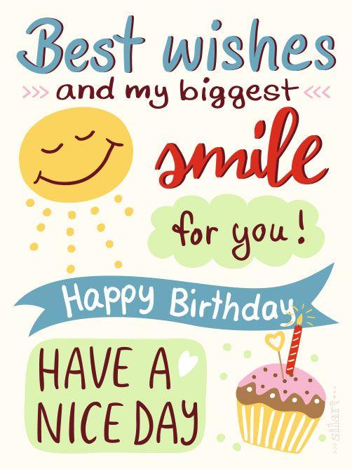 Birthday Quotes  Birthday Smile, happy birthday, #geburtstagskarte
