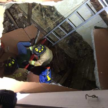 Topsfield Fire Responds to Man Trapped in Floor Collapse