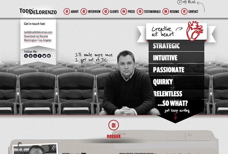 A Creative, Responsive Resume Website Top Shelf Design