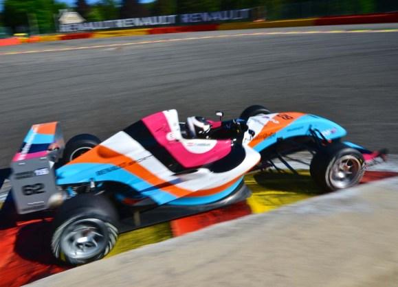 Ferdinand Habsburg mit dem Art-Car im Design von Lang-Baumann © Dirk Bogaerts-Lechner Racing
