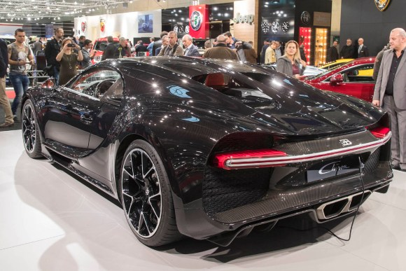 Bugatti Chiron Heckansicht © Reed Exhibitions Wien/Andreas Kolarik