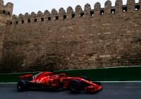 Sebastian Vettel in den Strassen von Baku © Ferrari Media