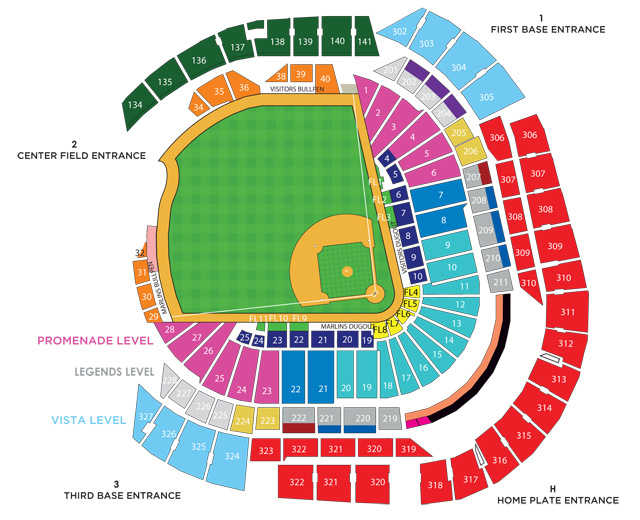 Going Fishing Breaking Down Marlins Park Seating \u2013 The Top Step