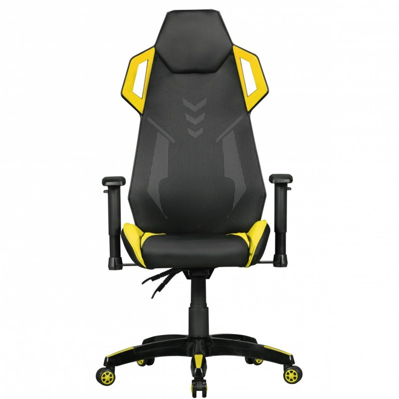 Bureaustoel Race Gamestoelen : Gaming Chair Kunstleder / Mesh In Zwart / Geel
