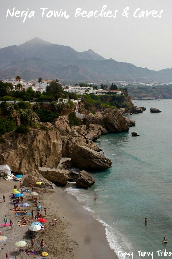 Nerja Town, Beaches, Caves. Malaga, Andalucia, Spain