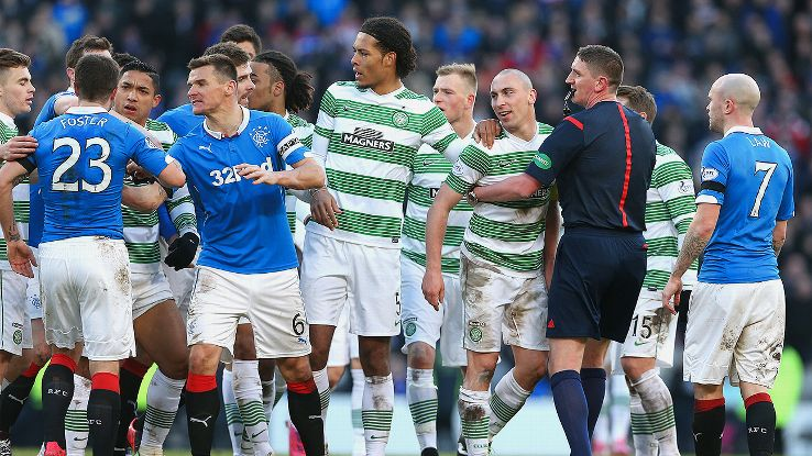 Celtic Rangers Football Fight