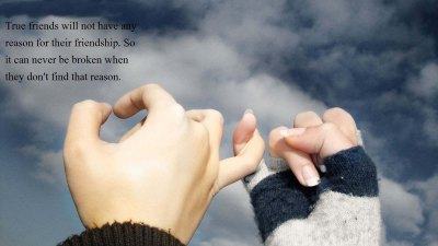 40+ Cute Friendship Quotes With Images | Friendship wallpapers -Chobirdokan