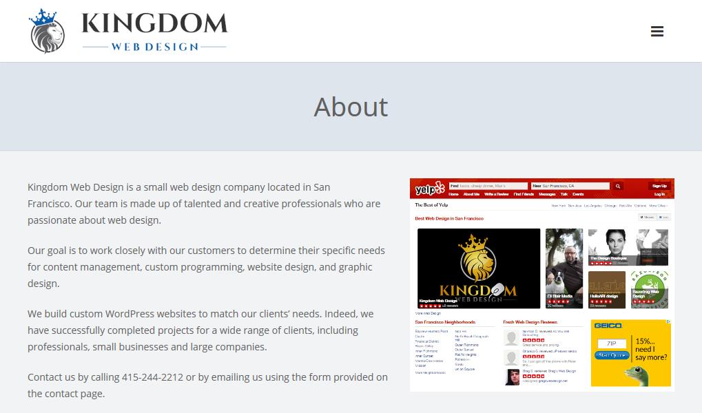 Kingdom Web Design Reviews