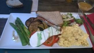 assiette aux légumes grillés