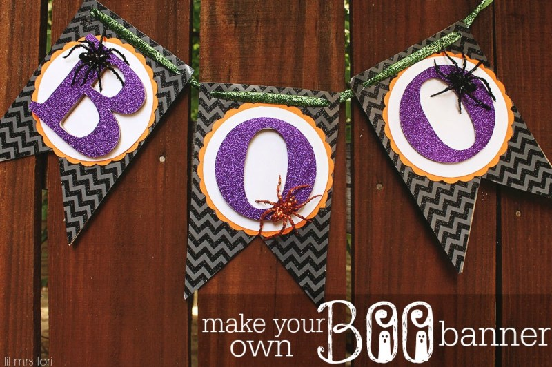 Make Your Own Halloween Boo Banner   Lil Mrs Tori
