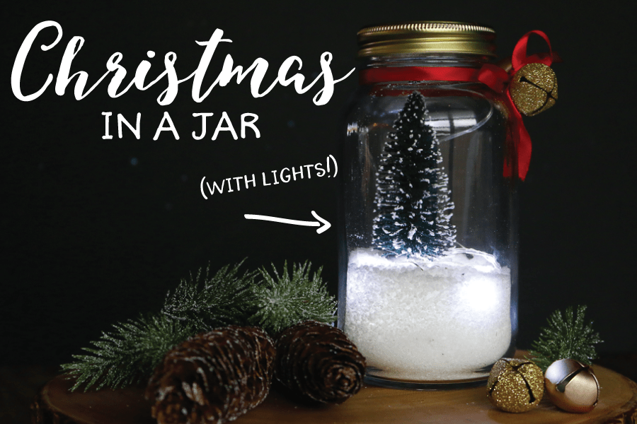 Christmas in a Jar with Lights