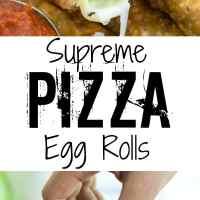 Supreme Pizza Egg Rolls