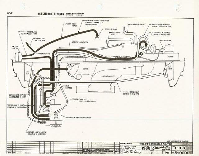 1971 oldsmobile 88 bedradings schema