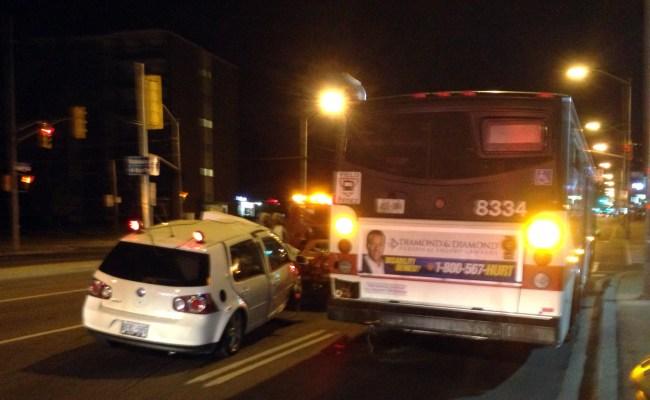 Car And Ttc Bus Crash Near Yonge And Steeles Citynews