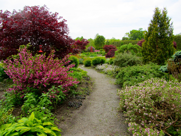 entering the kingsbrae perennial garden