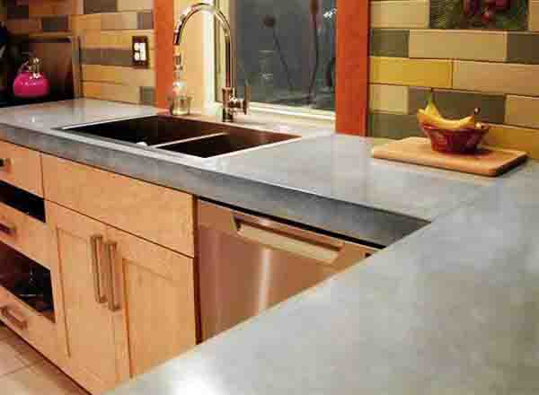 White Concrete Countertop Toronto Concrete Countertop And Flooring Products - Modern