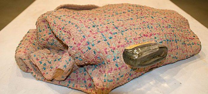 'Tweed (neck) 2008,' part of Artist Liz Magor's exhibit Storage Facilities, on at Doris McCarthy Gallery in Scarborough until Oct. 25.