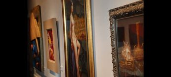 Paintings of portraits and still life on display at the Twelve Artists exhibition, which runs Dec. 6-18 at Cedar Ridge Gallery.