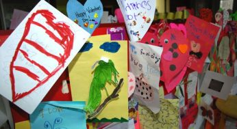 Valentines made for bugs.