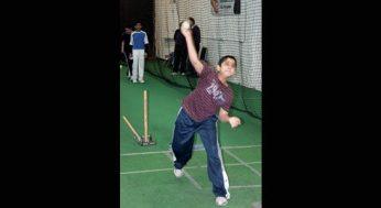 A bowler unloads in the Under 15 program.