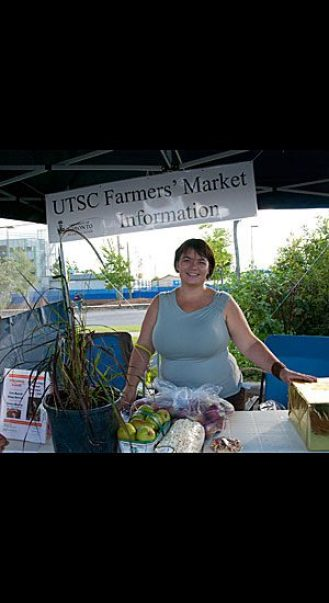 Billie Jo Cox, project manager of the UTSC farmers' market, ran a free raffle throughout the afternoon. The prizes were products from the various market vendors.