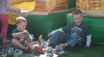 Kids enjoy the inflatable activities at the 17th annual Family Day. Held on Sept. 18, the event was also a celebration of the 50th anniversary of the West Rouge Sports and Recreation Association.