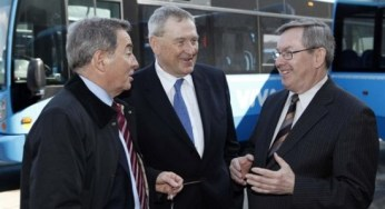 Phillips was talking with Transportation Minister Jim Bradley and MPP David Zimmer at the recent announcement regarding Scarborough RT upgrades and extension.