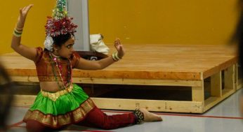 A young Tamil dancer takes the stage at the NWSLIP meeting.