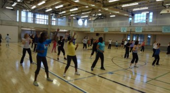 More Family Zumba in action.