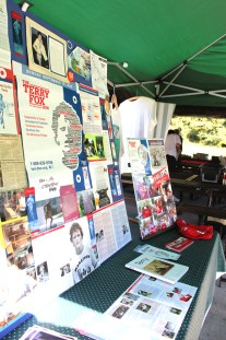 Verla Fiveash, in charge of publicity for the Scarborough Terry Fox Run, put together a creative display depicting the history of Terry Fox, the run, and cancer research.