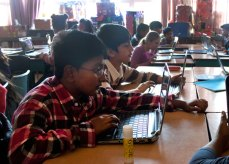 Mason Road Public School Principle Stacey Michener said she hopes this method of e-learning will help the Grade 5 boys perform better in Math and English subjects.