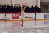 Lauren Barnett, 15, performs her short program in front of the judges at Skate Canada Central Ontario Sectionals in Barrie, Ont.