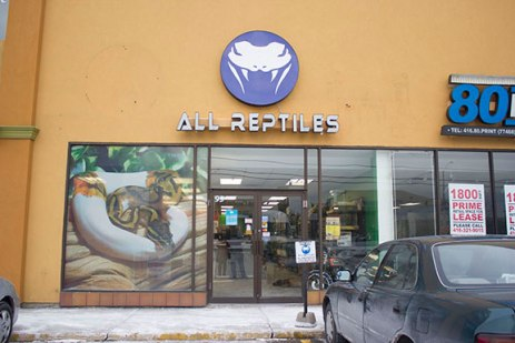 All Reptiles store from the outside.