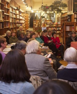 The crowd enjoys Nicholas Hoare reviewing his favourite reads on Nov. 13, 2012.