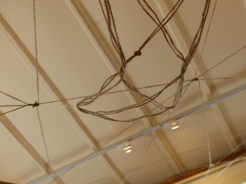Cat's Cradle, 2013, Twine installetion by Dorica Manuel.