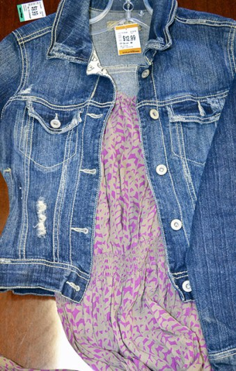 The same staple items were found at Value Village for even less totalling $21for both the denim jacket and maxi dress.