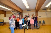 Dianne Clare directs the Scarborough Sweet Adelines Chorus during rehearsal at St. Paul's L'Amoreaux Church.