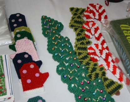 Handmade original holiday crafts made by residents.