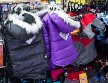 Doggie jackets to keep man's best friend warm, for sale at Muddy Paws in the Guild.