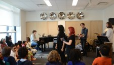 RPSM choir rehearsing with Devin Cuddy Band for their benefit concert.