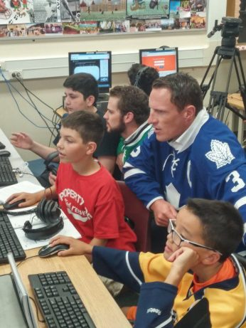 Dion Phaneuf and Tyler Seguin helped make the students' day.