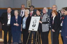 Patrick Rocca poses with the Agnes Macphail Recognition Committee, organizers, and recipients.